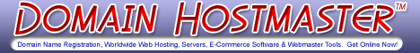 Domain Hostmaster for domain names, websites, hosting, dedicated servers, e-commerce software and webmaster tools. Dedicated tech support team available 24 hours per day, 7 days a week.