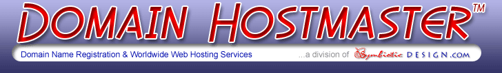 Domain Name Registration and Worldwide Web Hosting Services Logo Banner